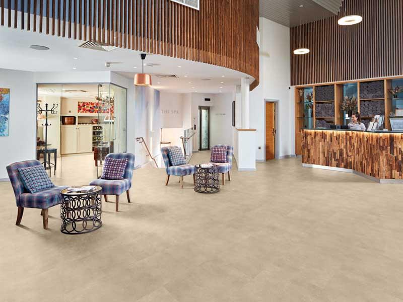 Spa reception flooring