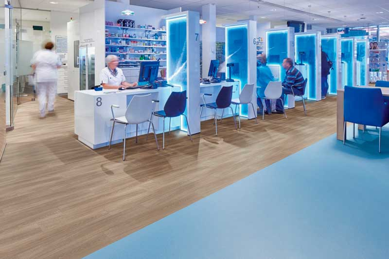 Flooring for alll types of health and social care