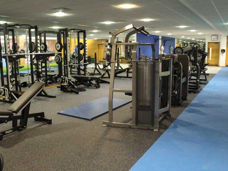 Weights area floor covering